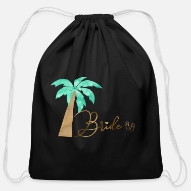 Bride - Bachelorette Party team_bride_flip_flop - Cotton Drawstring Bag
