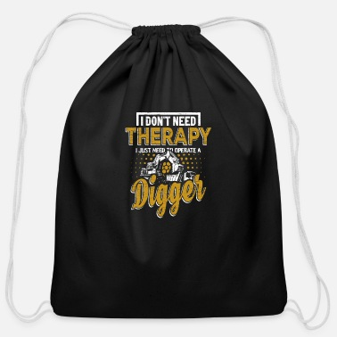 Building Site Building site Digger - Cotton Drawstring Bag