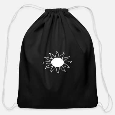 Sun Burning Sun - Cotton Drawstring Bag