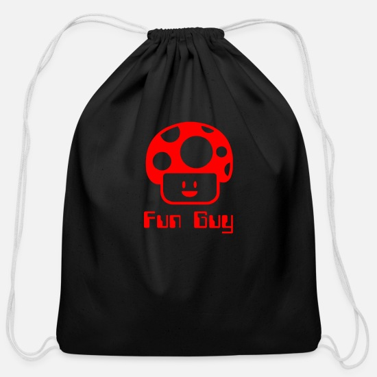 Game Bags & Backpacks - Fun Guy - Cotton Drawstring Bag black
