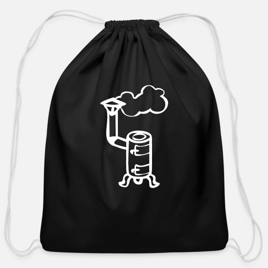 Oven Bags & Backpacks - Steaming stove - Cotton Drawstring Bag black