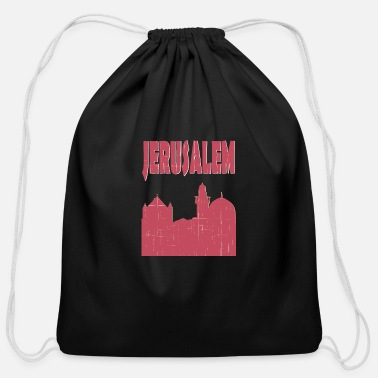 Jerusalem Jerusalem City - Cotton Drawstring Bag