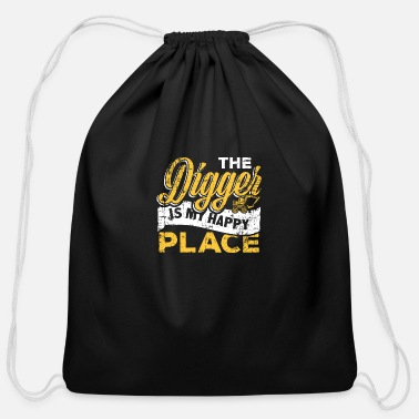 Building Site Digger Building site - Cotton Drawstring Bag