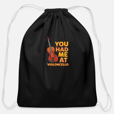Hipster Violin - You Had Me At Violoncello - Concert - Cotton Drawstring Bag