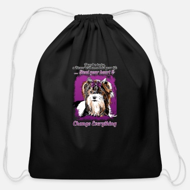 Biewer Terrier - If you're lucky - Cotton Drawstring Bag