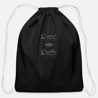 Metal Music metal music guitars - Cotton Drawstring Bag