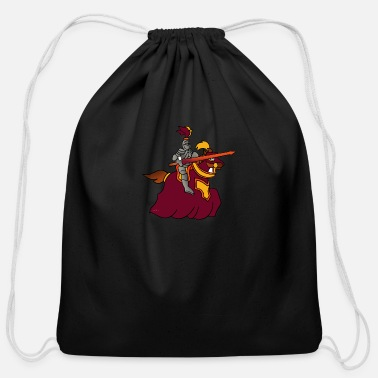 Templar Knights knight warrior templar fantasy - Cotton Drawstring Bag