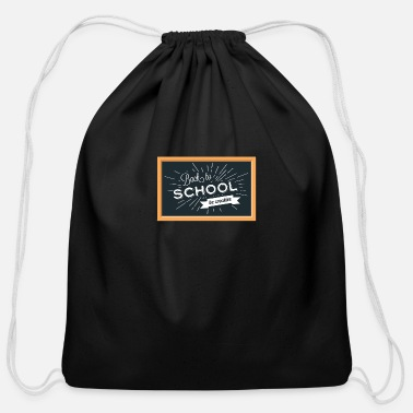 School Day Back To School Background - Cotton Drawstring Bag