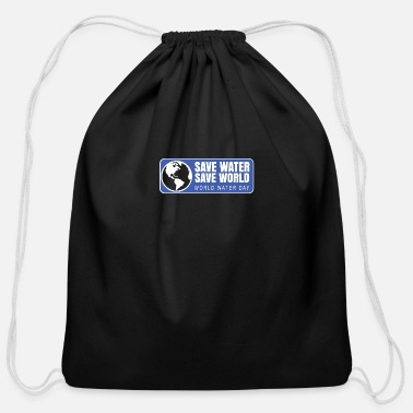 Save World SAVE WATER SAVE WORLD - Cotton Drawstring Bag