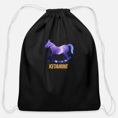 Funny Ketamine Design - Cotton Drawstring Bag