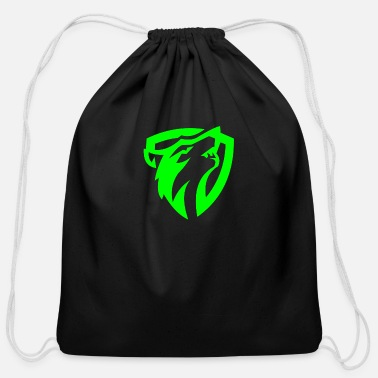 Shield wolf shield - Cotton Drawstring Bag