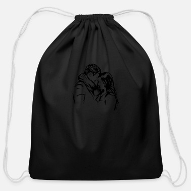 Sensual Couple Relationship Kissing Married Women Passion - Cotton Drawstring Bag