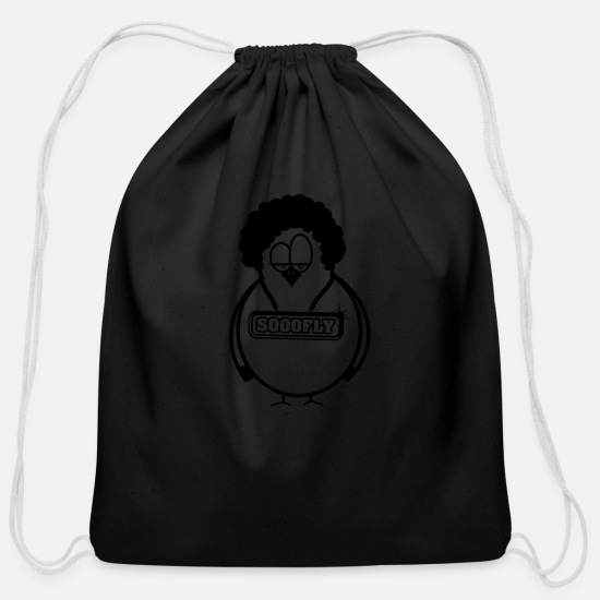 Superfly Bags & Backpacks - Superfly - Funky - Fly - Bird - Cotton Drawstring Bag black