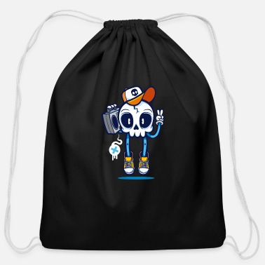 Slang skull slang - Cotton Drawstring Bag
