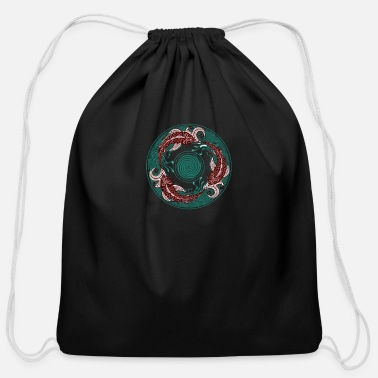 Circular Circular Swimming - Cotton Drawstring Bag