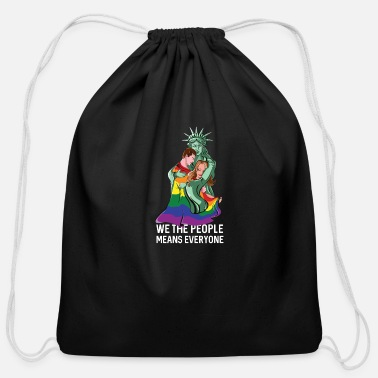 We The People Means Everyone LGBT - Cotton Drawstring Bag