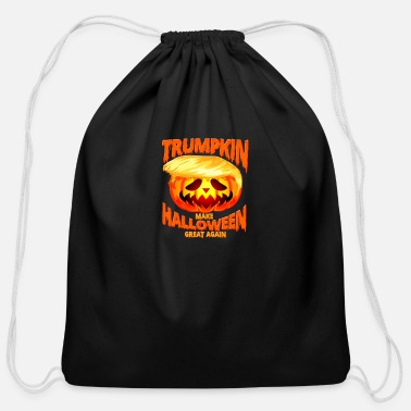 Scary Trumpkin Election Make Halloween Great Again Gift - Cotton Drawstring Bag