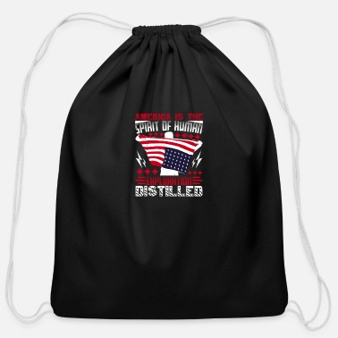 Patriot Day America is the spirit - Cotton Drawstring Bag