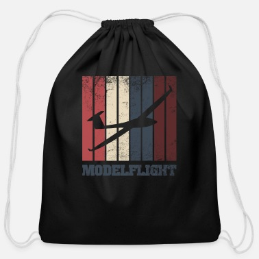 Model Airplane model airplane model flight - Cotton Drawstring Bag