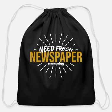 Newspaper Newspaper - Cotton Drawstring Bag