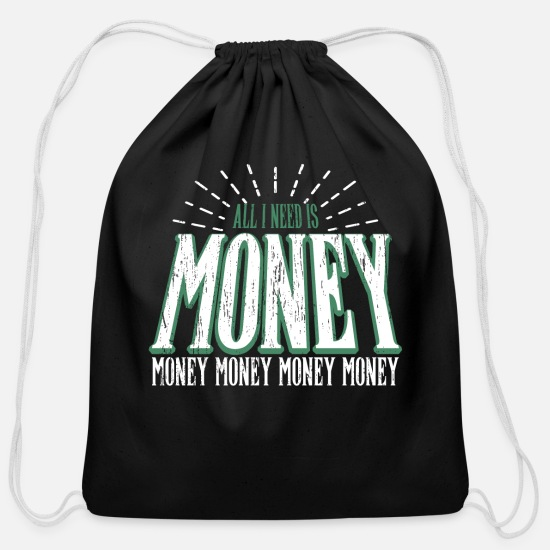 Gift Idea Bags & Backpacks - Money - Cotton Drawstring Bag black