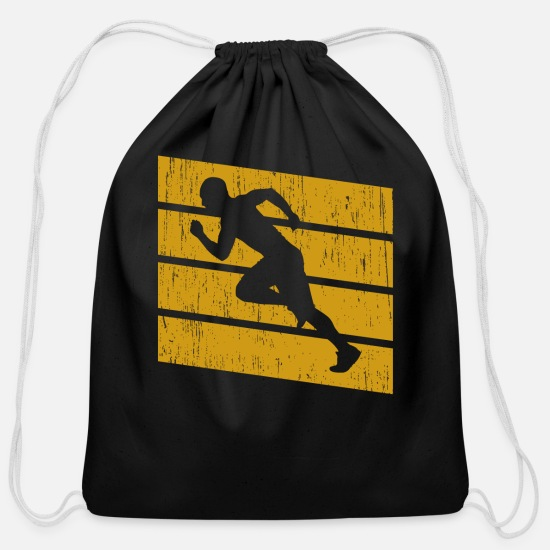 Runner Bags & Backpacks - Jogging - Cotton Drawstring Bag black