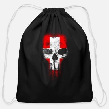 Switzerland Switzerland Totenkopf Switzerland - Cotton Drawstring Bag