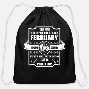Pisces February Pisces Legend February - Cotton Drawstring Bag