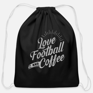 Pitch Love Football And Coffee - Cotton Drawstring Bag