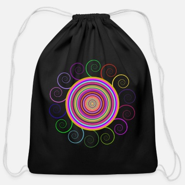 Circular Circular rainbow - Cotton Drawstring Bag