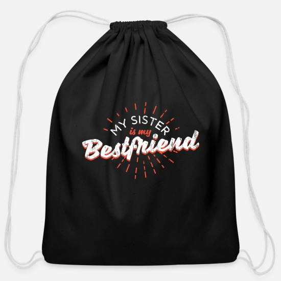 Sister Bags & Backpacks - Sister - Cotton Drawstring Bag black