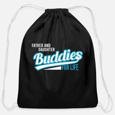 Daughter Father and Daughter - Cotton Drawstring Bag