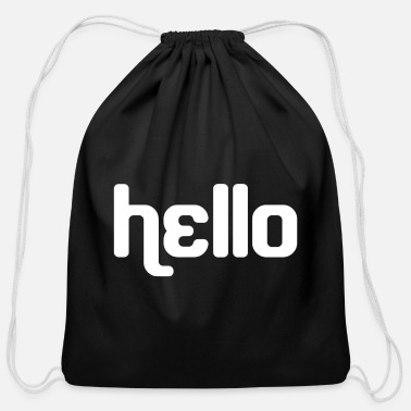 Hello Hello - Cotton Drawstring Bag