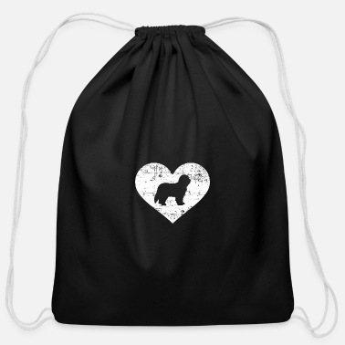 Bearded Collie Bearded Collie - Cotton Drawstring Bag