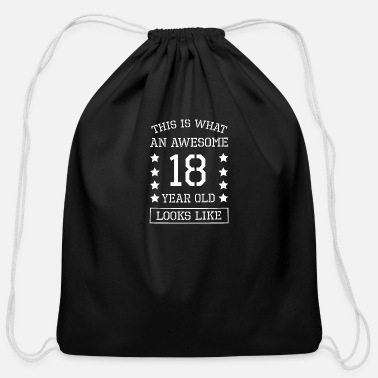 18th Birthday 18th Birthday - Cotton Drawstring Bag