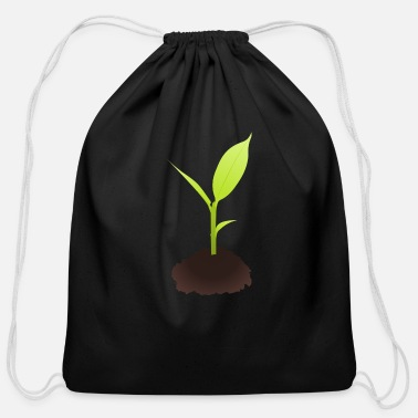 Plant Grounds Growing Plant - Cotton Drawstring Bag