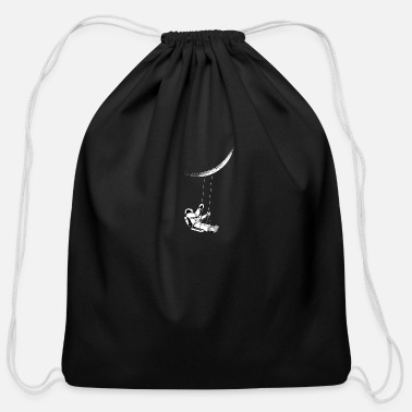 Moon Astronaut Moon Swing - Cotton Drawstring Bag