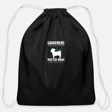 Pet Dog Groomer Gift Print Pet Grooming Pet Matted - Cotton Drawstring Bag