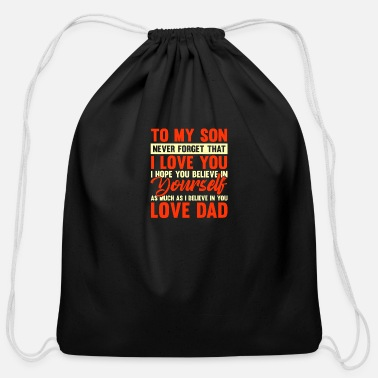 Heaven To my son never forget that i love you - Cotton Drawstring Bag
