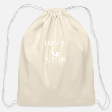 Read I Read Past My Bedtime Bookworm Reading - Cotton Drawstring Bag