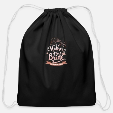 Brides Mom Mother of the Bride Novelty Gift for Mom - Cotton Drawstring Bag