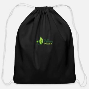 Dinkum Fair Dinkum Power - Cotton Drawstring Bag