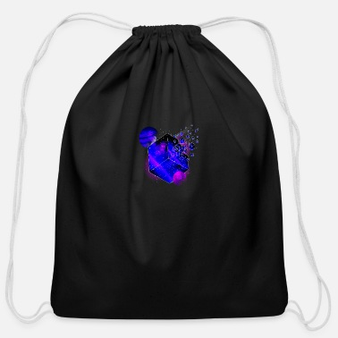 Space Cube space tshirt - Cotton Drawstring Bag