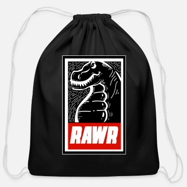 Raptor Dino Rawr - Dinosaur - Cotton Drawstring Bag