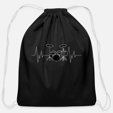 Heart Drums Heartbeat - Cotton Drawstring Bag