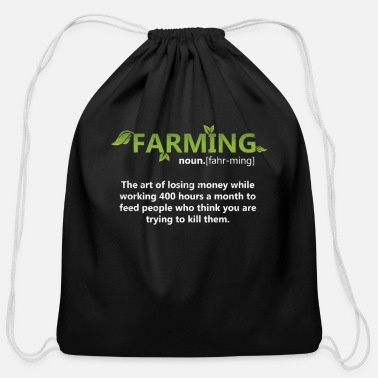 Farmer Farming Definition - Cotton Drawstring Bag