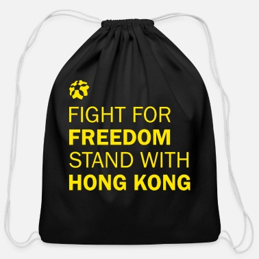Freedom Of Expression Fight For Freedom Stand With Hong Kong Tshirt - Cotton Drawstring Bag