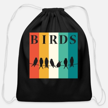 Bird Bird Birds - Cotton Drawstring Bag