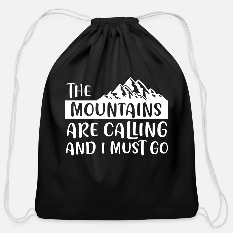 Gift Idea Bags & backpacks - Mountain Alps Gift - Cotton Drawstring Bag black