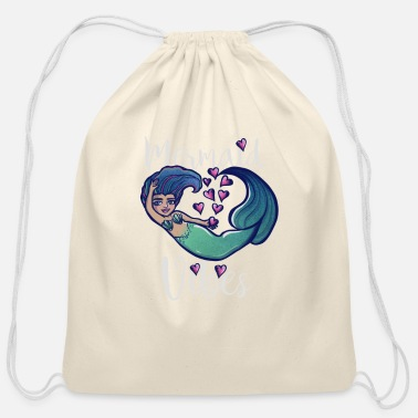 Summer mermaid vibes qw3tw - Cotton Drawstring Bag